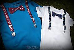 Detské oblečenie - Spoločenské pohodlné s motýlikom pre chlapčeka - 6809726_