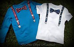 Detské oblečenie - Spoločenské pohodlné s motýlikom pre chlapčeka - 6809727_