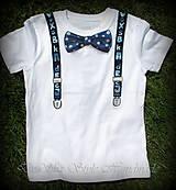 Detské oblečenie - Spoločenské pohodlné s motýlikom pre chlapčeka - 6809729_