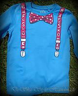 Detské oblečenie - Spoločenské pohodlné s motýlikom pre chlapčeka - 6809731_