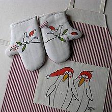 Textil - TUČŇÁCI - zástěrka a chňapky - 6810214_