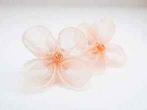 Náušnice - Marhuľové kvetinky - náušnice - 6810500_