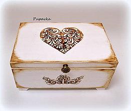 Krabičky - Srdce z 3D ornamentu - 6808821_