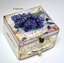 Krabičky - Trs levandule - 6808884_