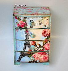 Krabičky - Paris belasá komodka - 6808897_