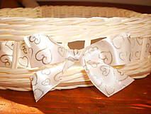 Košíky - Biele svadobné srdiečko - 6808649_
