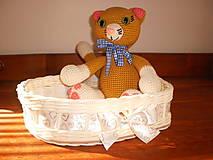 Košíky - Biele svadobné srdiečko - 6808650_
