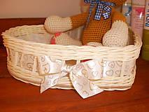 Košíky - Biele svadobné srdiečko - 6808652_