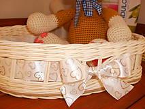 Košíky - Biele svadobné srdiečko - 6808653_