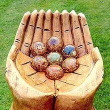 Dekorácie - Meditační sada Čakrových polokouliček - 6811564_