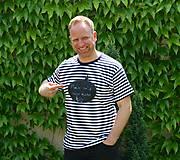 Oblečenie - Pánske tričko -Odkaz vždy čerstvý - alebo tabuľa na tričku - 6811979_