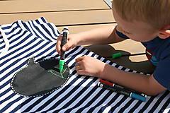Oblečenie - Pánske tričko -Odkaz vždy čerstvý - alebo tabuľa na tričku - 6812028_