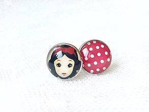 Šperky - Manžetové gombíky (Snehulienka/bodky) - 6812167_