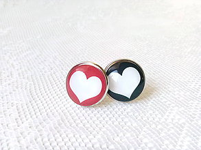 Šperky - Manžetové gombíky (srdiečka) - 6812172_