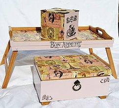 """Krabičky - Sada """"Parížanka"""" - box na vreckovky a šperkovnica - 6812042_"""