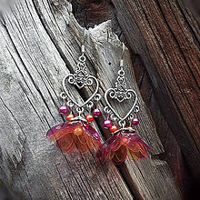 Náušnice - oriental flower - 6813032_