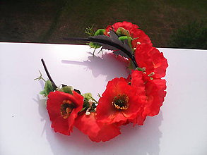 """Ozdoby do vlasov - Kvetinová čelenka do vlasov """"Divé maky červené"""" - 6811412_"""