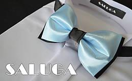 Doplnky - Bledo modrý s čiernym motýlik - 6811781_