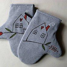 Úžitkový textil - NA CHALUPĚ - chňapky - 6811562_