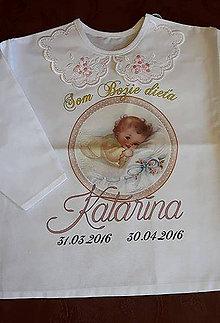 Detské oblečenie - Košielka - krst - 6812063_