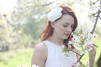 Ozdoby do vlasov - Svadobný kvet do vlasov veľký - 6813377_