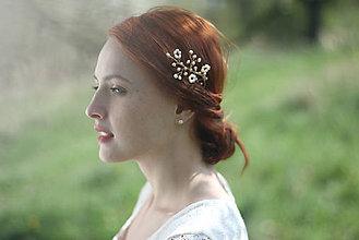 Ozdoby do vlasov - Perlová vlásenka na svadbu - 6813456_