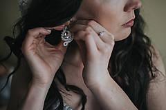 Náušnice - Svadobné šujtášové náušnice  (Ružová) - 6813147_