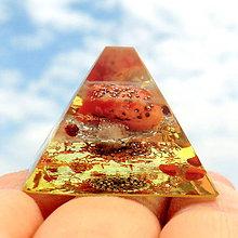 Dekorácie - Pyramidka 7* Karneol pro Ženy - 6813837_