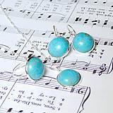 Tyrkenite & Silver Set / Set náušníc, náhrdelníka a prsteňa s tyrkenitom