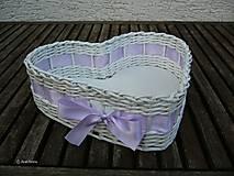 - Fialková svadba - srdiečkový košíček - 6815425_