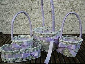 Dekorácie - Svadobné košíčky - väčšie sady (fialková) - 6815391_