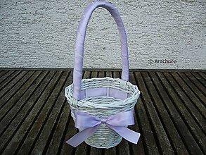 Dekorácie - košíček pre družičku (fialkový) - 6815454_