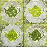 - S727 - Servítky - čajník, čaj, tea - 6814181_