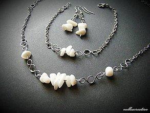 Sady šperkov - Biela perleť... súprava - 6815842_