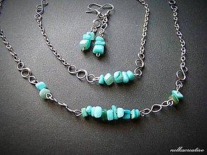Sady šperkov - Tyrkysová perleť... súprava - 6815877_