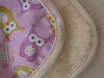 Textil - Ovčie rúno Univerzálna podložka do kočíka celoročná Sovičková francúzsky dizajn - 6816327_