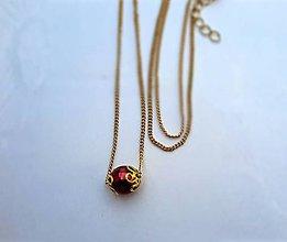Náhrdelníky - retiazka s perličkou - 6814310_