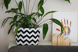 Dekorácie - Textilní košíčky - obal na květináč - 6814594_