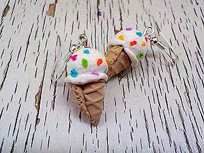 Náušnice - zmrzliny náušnice (s farebným posypom) - 6816105_