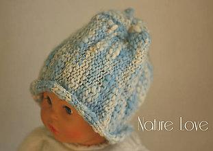 Detské čiapky - Pletená čiapočka z ručne pradenej merino vlny - HANDSPUNKA - 6818456_