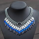 Argetlam modrý - náhrdelník