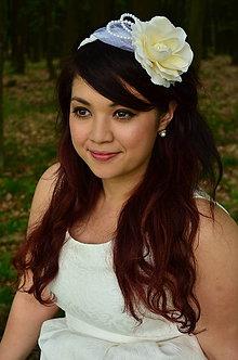 Ozdoby do vlasov - SUPER CENA! Svadobná čelenka Ivory Rose - 6816782_