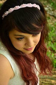Ozdoby do vlasov - SUPER CENA! Svatební čelenka Sweet Roses - 6817307_