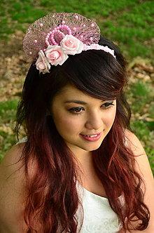 Ozdoby do vlasov - SUPER CENA! Svadobná čelenka Sweet Roses - 6818104_