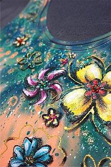Šaty - rozkvitnuté - maľba na maxišatách - 6818856_