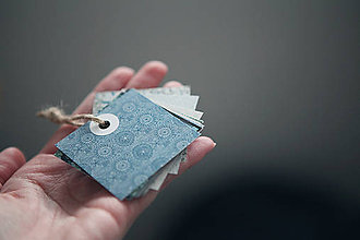 Papiernictvo - Recy visačky modrozelené - 6817639_