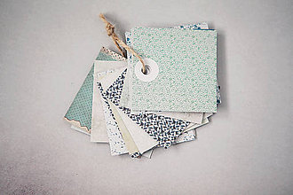 Papiernictvo - Recy visačky - mint - 6817697_