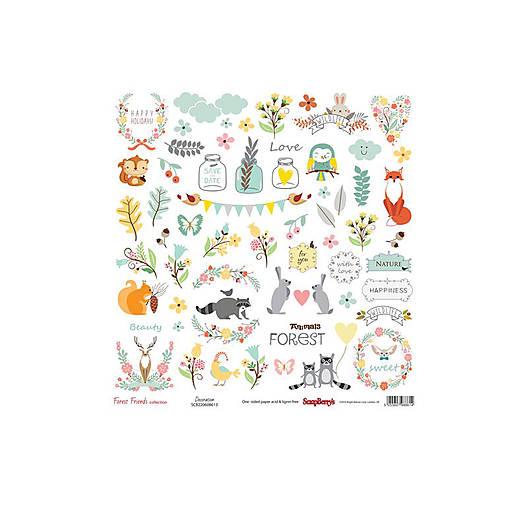 Papier 30,5x30,5cm Forest Friends - Decoration