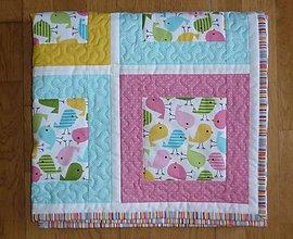 Textil - Deka pre deti - dva varianty (PASTELOVÉ VTÁČIKY) - 6818118_
