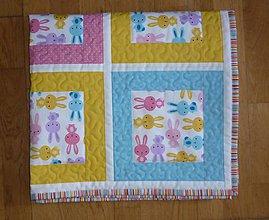 Textil - Deka pre deti - dva varianty (PASTELOVÍ ZAJAČIKOVIA) - 6818174_
